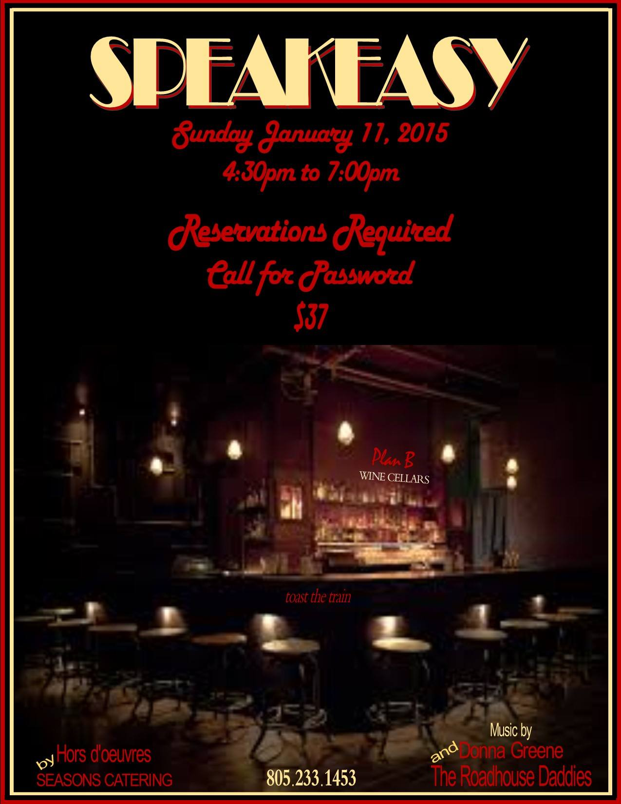 Speakeasy at Plan B Cellars