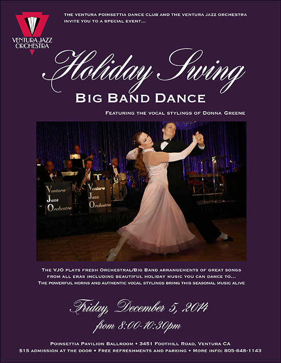 The Ventura Jazz Orchestra Holiday Swing Dance