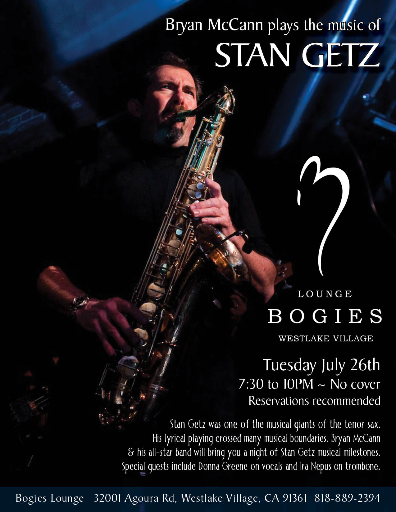 Bryan McCann at Bogies with Donna Greene
