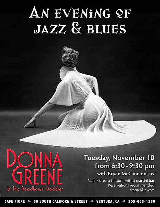 Donna Greene at Cafe Fiore Ventura