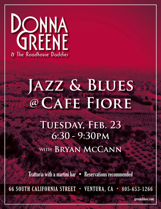 Donna Greene at Cafe Fiore 2-23-16