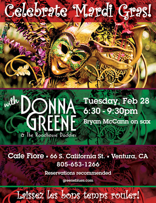 Donna Greene at Cafe Fiore in Ventura