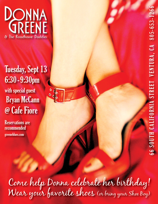 Donna Greene and Bryan McCann at Cafe Fiore Ventura