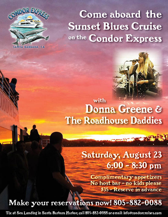 Donna Greene & The Roadhouse Daddies play on the Condor
