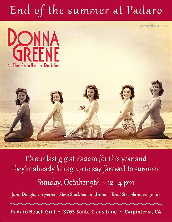 Donna Greene at Padaro Beach Grill