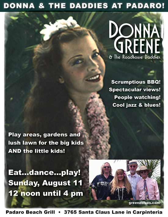 Donna Greene & The Roadhouse Daddies @ Padaro Beach Grill
