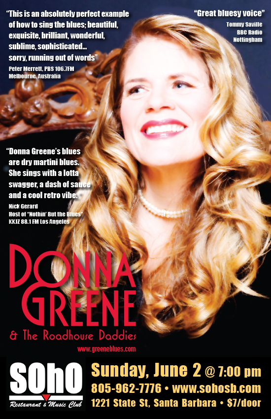 Donna Greene & The Roadhouse Daddies at SOhO