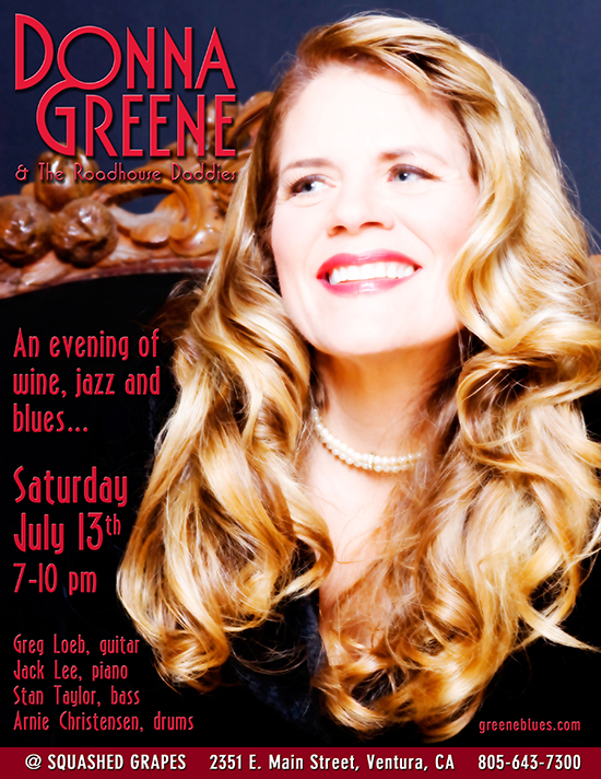 Donna Greene at Squashed Grapes 7/13/13