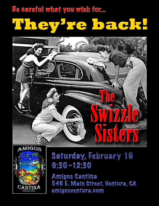 Swizzle Sisters gig at Amigos